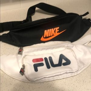 Nike And Fila Fanny Packs